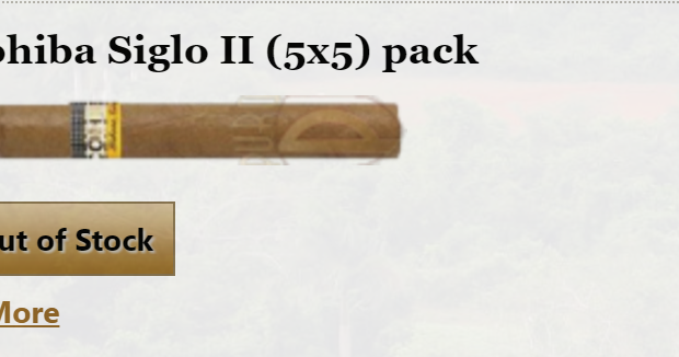 Cohiba Sigolo II Out of Stock