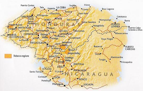 Honduras cigar regions